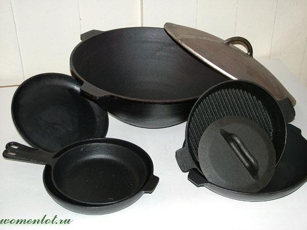 Чугунная столова посуда