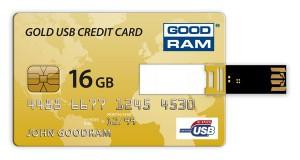Флешка в форме банковской карточки