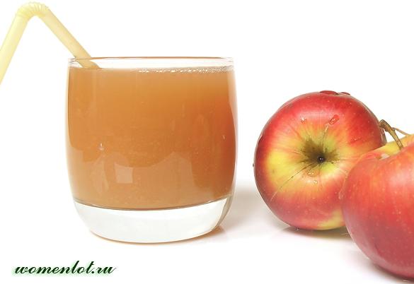 Свежеотжатый яблочный сок