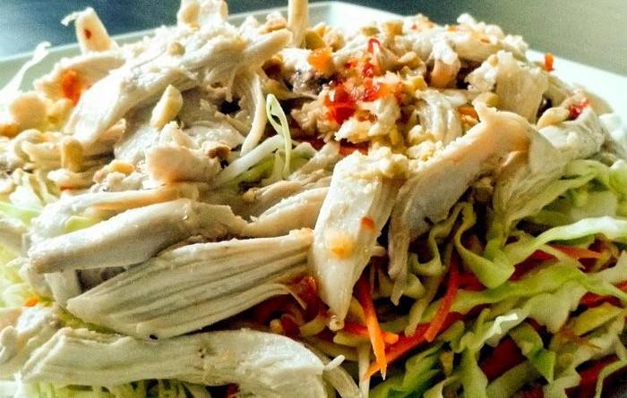 овощной_салат с куриным филе