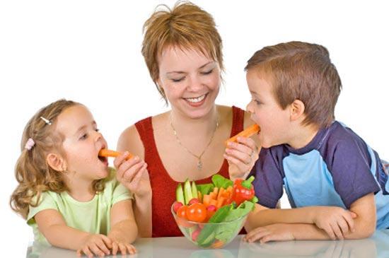 Как научить ребенка правильному питанию