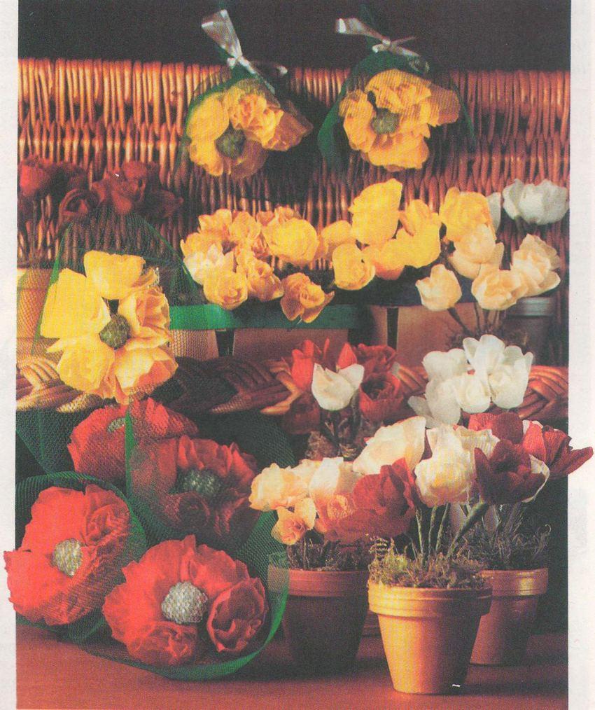 Бумажные цветы малютки фото