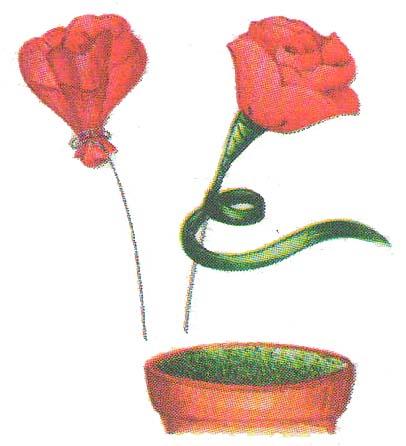 Бумажные цветы малютки фото 3