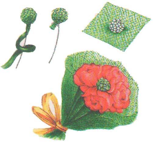 Бумажные цветы малютки фото 4
