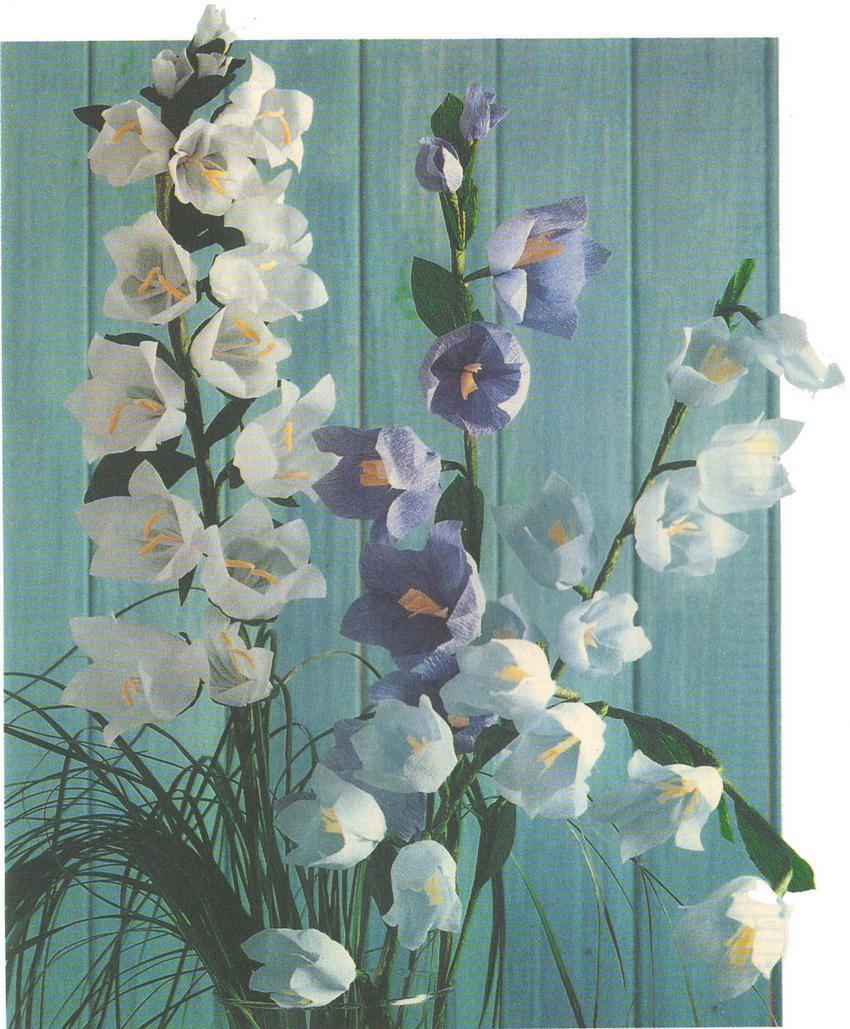 Цветы из бумаги колокольчити фото
