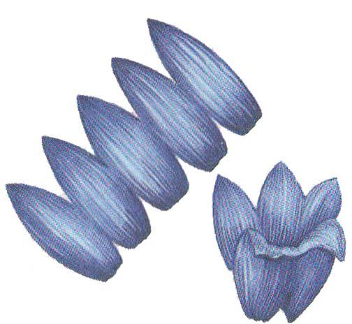 Цветы колокольчики из бумаги
