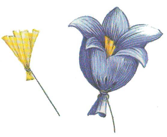 Цветы из бумаги колокольчити фото 2