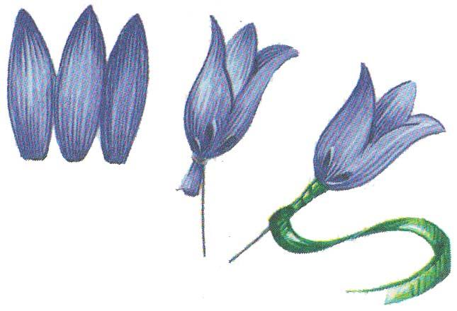 Цветы из бумаги колокольчити фото 3