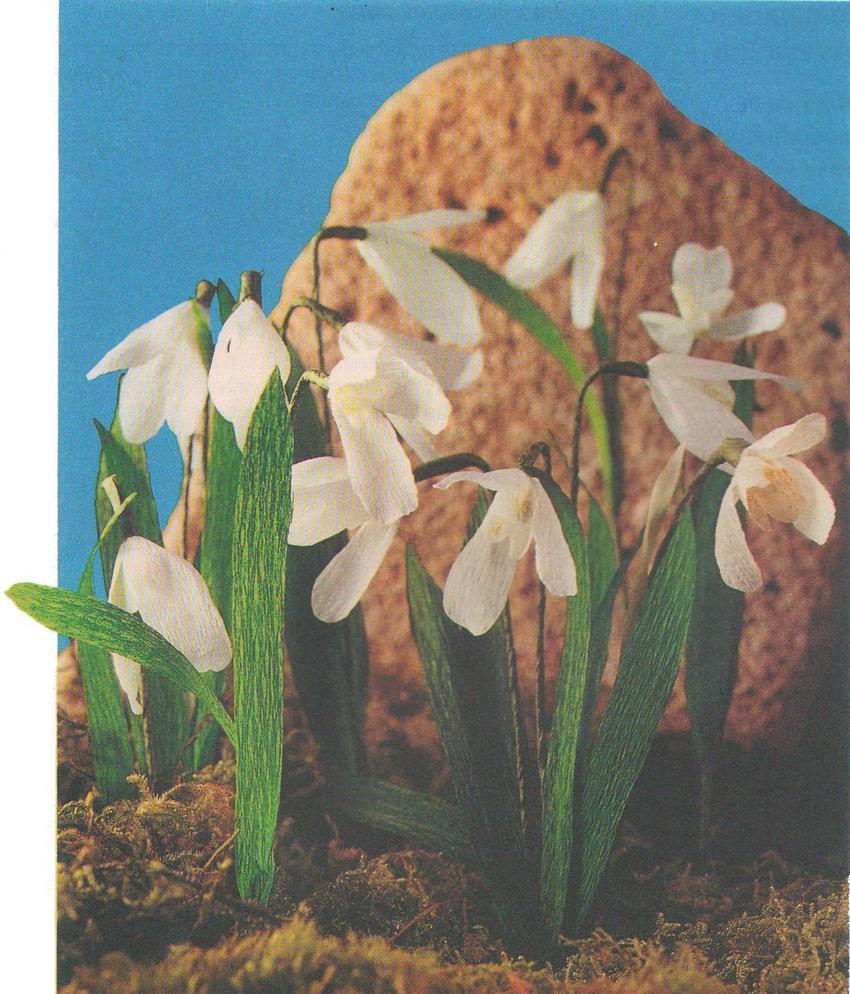 Подснежники цветы из бумаги