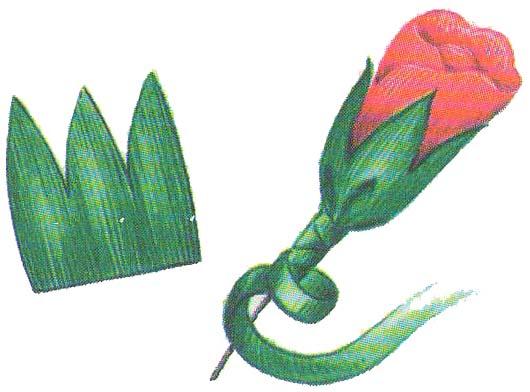 Цветы из бумаги: бутоны роз фото 4